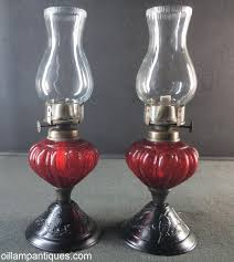 Tiny Lamp by Pair Of Tiny Lithgow Lamps Red Oil Lamp Antiques