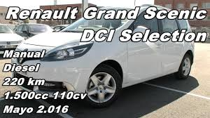 renault grand scenic dci selection manual diesel 220km 110cv en