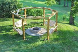 Backyard Firepits Backyard Pits Diy Backyard Pit With Swing Seats Model
