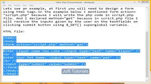 design form using php php tutorial forms post get and request variables php for