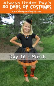 day 16 u2013 witch diy halloween costume tutorial cheap easy