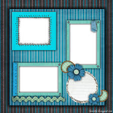 free printable scrapbook layouts blue and stripes layout file