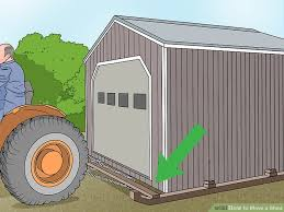 How To Build A Tool Shed Ramp by 4 Ways To Move A Shed Wikihow
