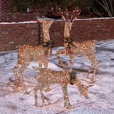 3 lighted deer family sam s club