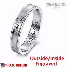 wedding band engravings engraved rings ebay