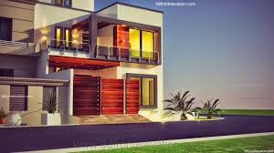 3d front elevation com 10 marla plot modern contemporary house