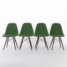green set 4 herman miller vintage original eames upholstered dsw