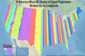 map of us states based on population if every u s state had the same population what would the map of