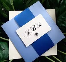 Wedding Invitation Folded Card Royal Blue Wedding Invitations Card Wedding Decor Theme