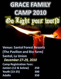Go Light Your World Grace Family Camp 2010 Go Light Your World Gmbc Bauang