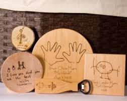 wooden personalized gifts handprint etsy
