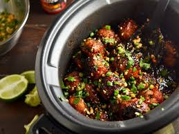 slow cooker sticky thai meatballs recipe serious eats