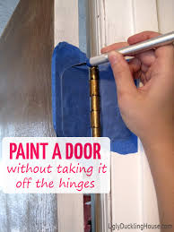 How To Refinish An Exterior Door The Easy Way by How To Paint A Door On Hinges