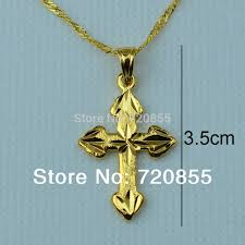 fashion gold cross necklace images Wholesale wholesale gold cross necklace pendant for women girls jpg