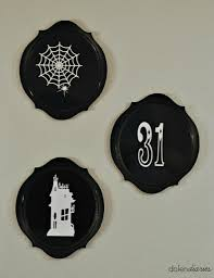 halloween plates mini halloween home tour hop dolen diaries