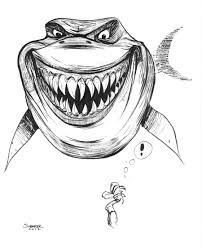 daily sketch bruce from finding nemo by gravyboy on deviantart