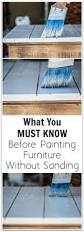 painting old wood furniture without sanding or priming wood