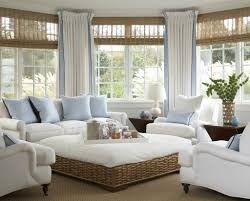 Fabric Coffee Table by Calm Sun Room Design With White Couch Combined Three Soft Arm
