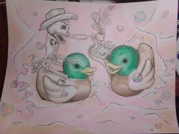loon and wood duck tattoo designs