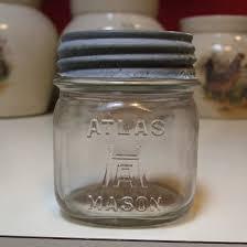 Vintage Glass Canisters Kitchen Vintage Hazel Atlas Mason Half Pint Canning Fruit Glass Jar Ha