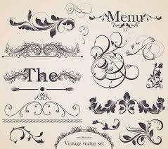 european gorgeous restaurant menu pattern vector 1 free vector