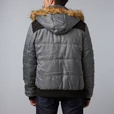 ralph heavy winter coat grey s distortion touch of modern