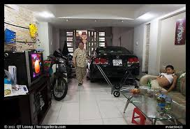 garage room picture photo living room used as car and motorbike garage ho chi