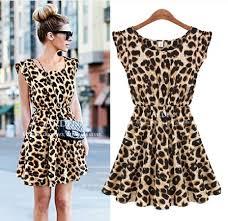 new spring 2014 new women casual dress leopard print milk silk