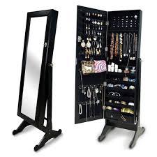 Oxford Jewelry Armoire The Organizedlife Mirrored Jewelry Cabinet Jewelry Reviews World