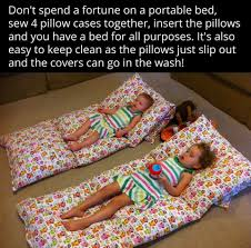 pillow bed for kids diy portable pillowcase pillow bed portable bed grandchildren and