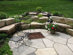 Firepit Area Flagstone Pit Area Pit Design Ideas