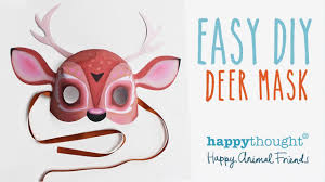 printable deer mask template easy diy costume idea youtube