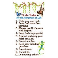 ten commandments kids clipart collection