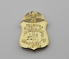 federal bureau of justice replica cop metal badge high quality federal bureau of