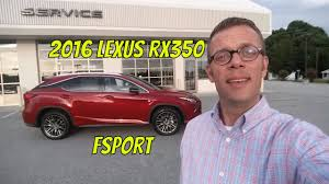 lexus of west kendall reviews 2016 lexus rx 350 fsport review youtube