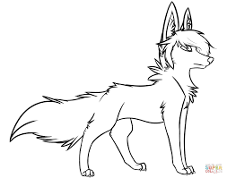 coloring pages wolf eson me