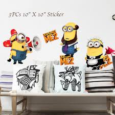 despicable me 2 minion wall decal sticker 3 in 1 despicable me 2 minion wall decal sticker