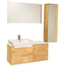 Bathroom Vanity With Side Cabinet Fresca Bath Fvn6163nw Caro Vanity With Mirrored Side Cabinet