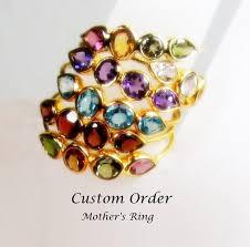 customized mothers rings customized mothers ring birthstone band anniversary band