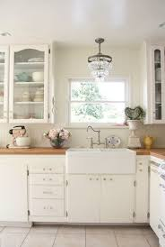 country chic chandelier kitchen shabby chic style with glass front