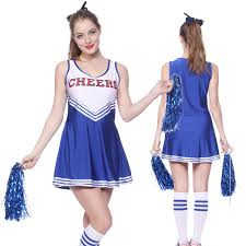 women cheerleader uniform fancy dress costume