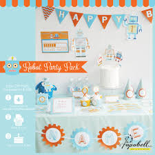 robot party kit complete set robot printables diy robot