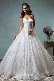 unique strapless sweetheart lace tulle backless ball gown wedding