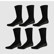 dickies s dri tech crew socks 6pk black 6 12 target