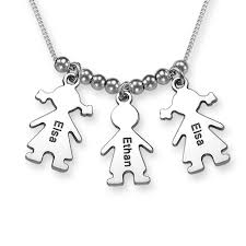 Necklace With Children S Names Silver Mother U0027s Necklace With Children Charms