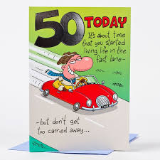 50th Birthday Cards For 50th Birthday Card Red Convertible Only 59p