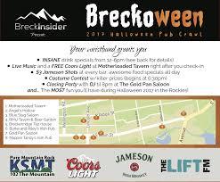 breckoween pub crawl presented by breckinsider tickets sun oct