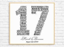 13th anniversary gift personalized 13th anniversary gift word printable 17