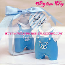 candle baby shower favors wedding decoration souvenirs baby boy clothes candle baby blue