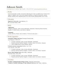 Sample Resume Doc Free Resume by Sample Resume In Doc Format Free Download Free Resume Template